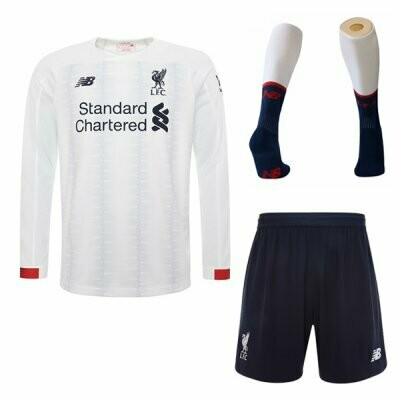 New Balance Official Liverpool Away Soccer Jersey Adult Full  Uniform Kit 19/20