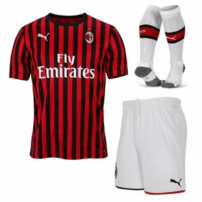 Puma AC Milan Official Home Soccer Jersey Adult Uniform Full Kit 19/20