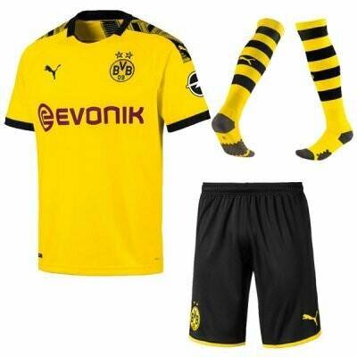 Puma Borussia Dortmund Official Home Soccer Jersey Adult Full Uniform Kit 19/20