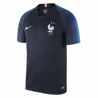 Nike France Official Home Jersey Shirt 2018 (Two Star edition)