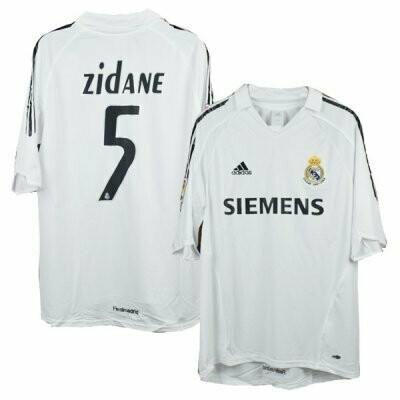 Real Madrid Home Zidane Jersey #5 05/06
