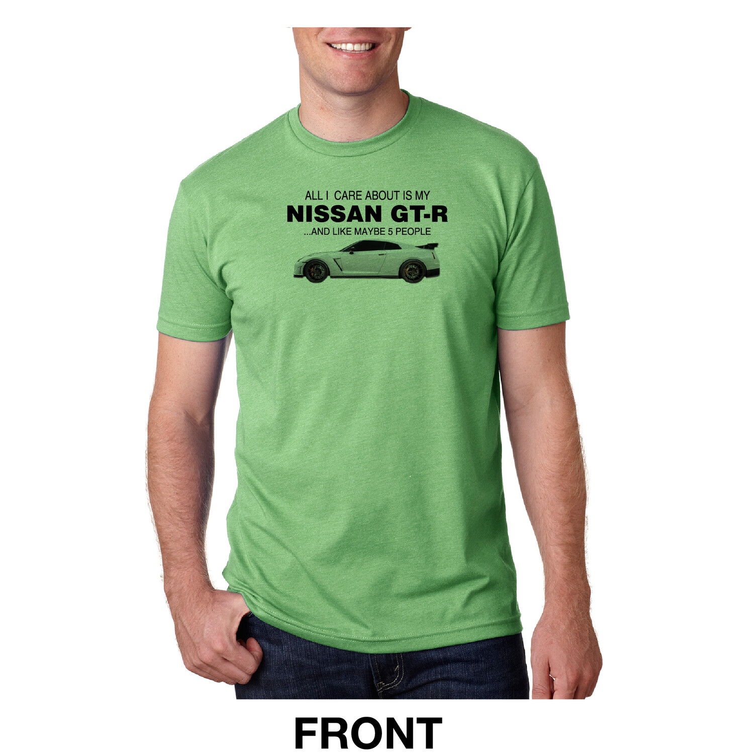 Care About GT-R T-Shirts Men Green Next Level