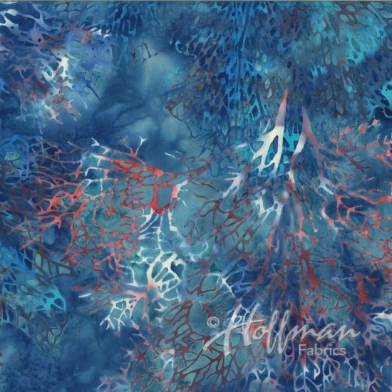 Hoffman - Bali Batiks - Yankee - Sea Fan - in 1/2 yard increments