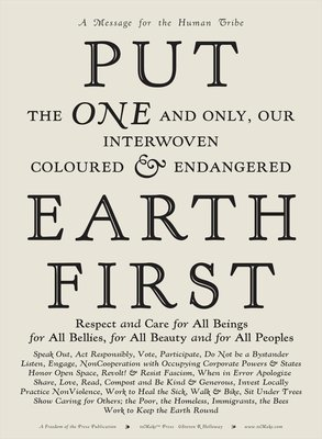 Letterpress Signed Edition: Put Earth First