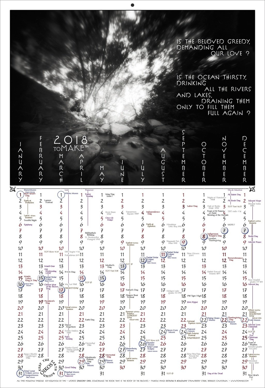 DIGITAL: 2018 Calendar