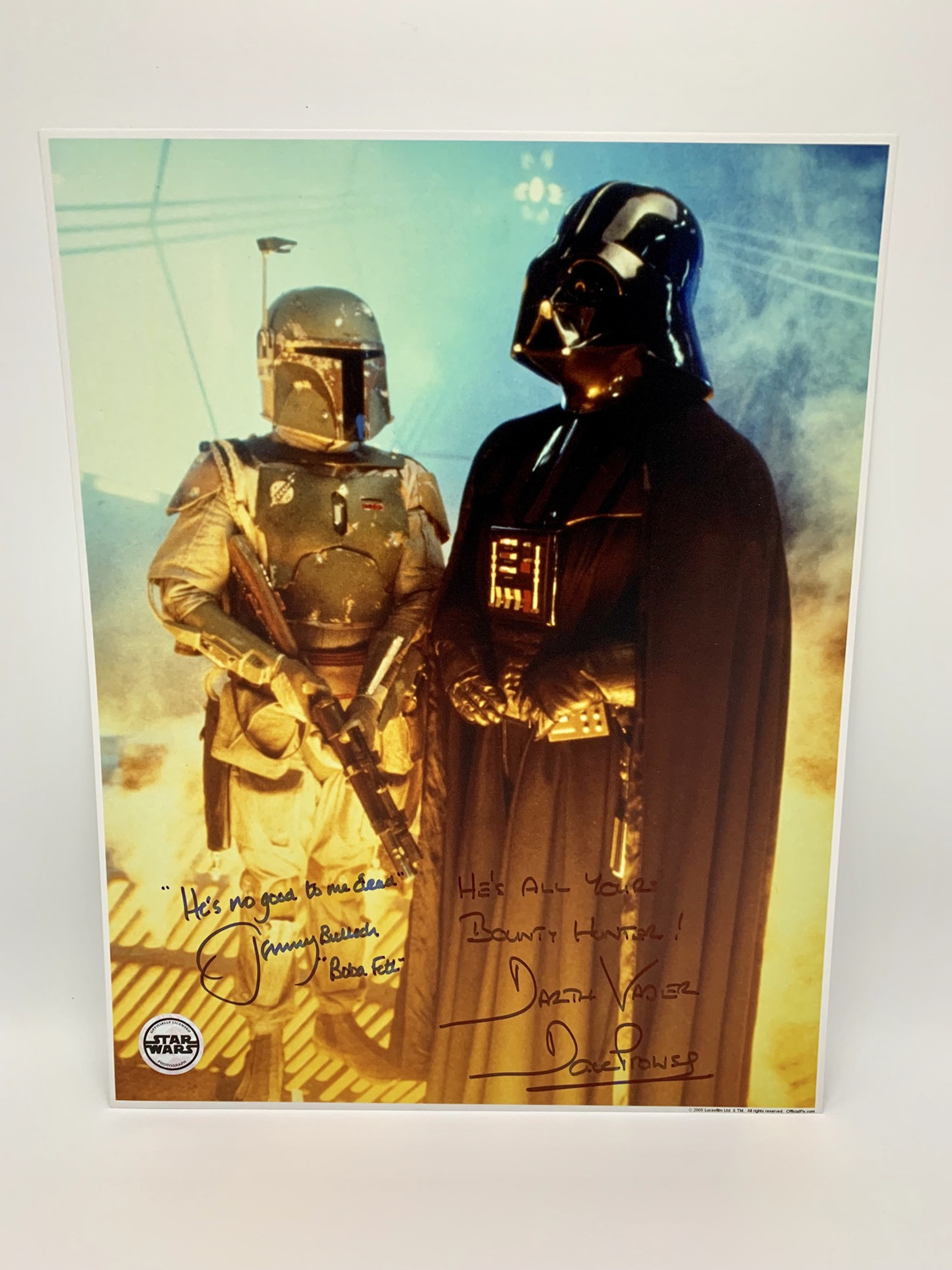 11X14 PHOTO SIGNED BY DAVE PROWSE AND JEREMY BULLOCH