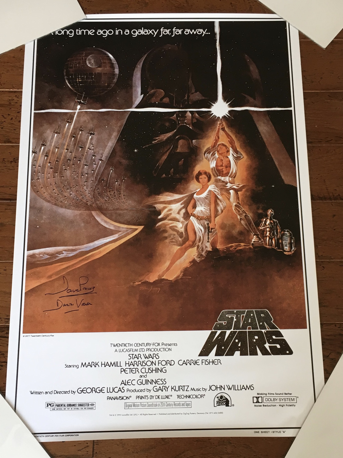 24x36 POSTER SIGNED BY DAVE PROWSE