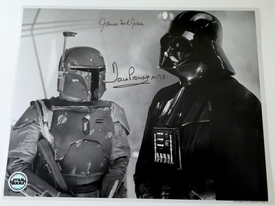11X14 PHOTO SIGNED BY DAVE PROWSE AND JAMES EARL JONES