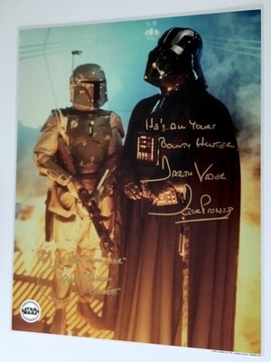 11X14 POSTCARD SIGNED BY DAVE PROWSE AND JEREMY BULLOCH