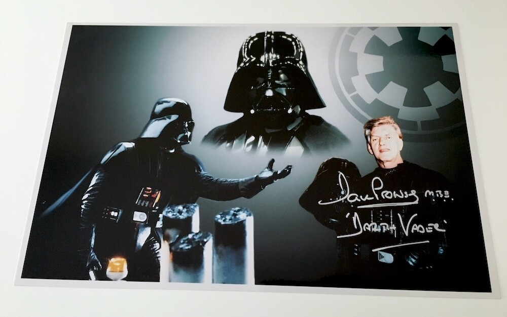 8X12 PHOTO SIGNED BY DAVE PROWSE