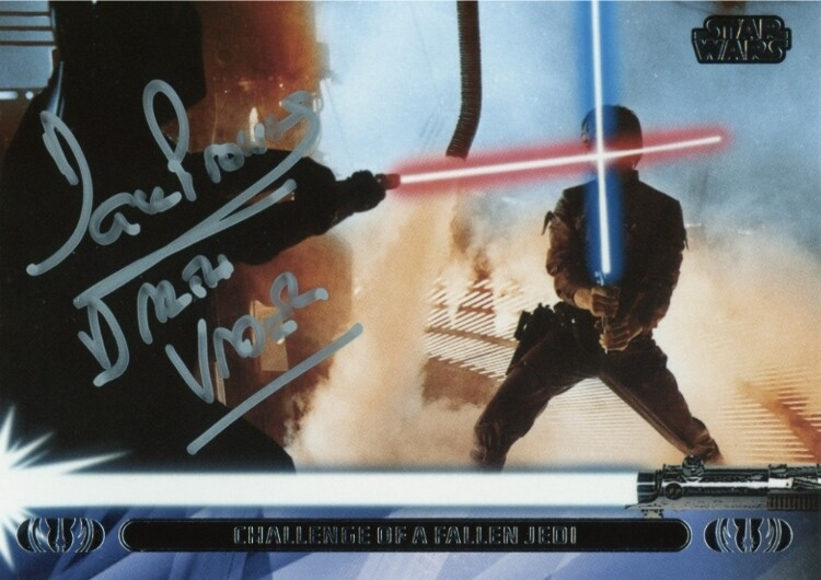 TOPPS TRADING CARD SIGNED BY DAVE PROWSE