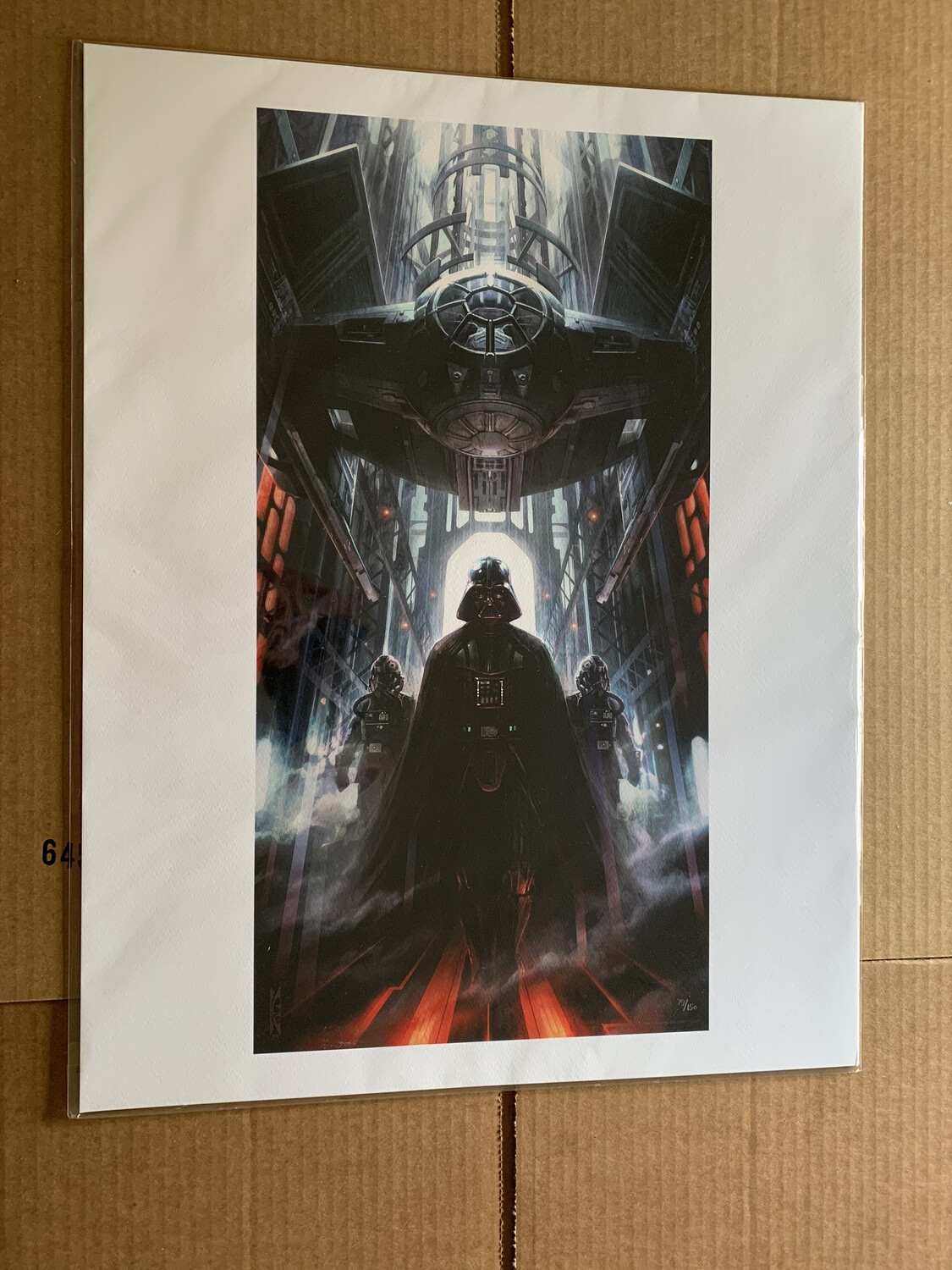 MACHINES OF DOMINION #79 OF 150 BY RAYMOND SWANLAND WITH FREE SIGNED DARTH VADER PHOTO