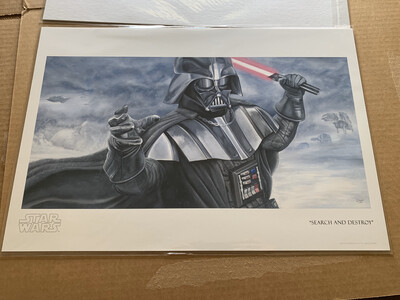 SEARCH AND DESTROY #2 OF 95 BY GREG LIPTON WITH FREE SIGNED DARTH VADER PHOTO