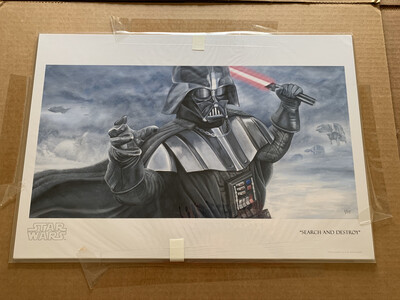 SEARCH AND DESTROY #1 OF 95 BY GREG LIPTON WITH FREE SIGNED DARTH VADER PHOTO