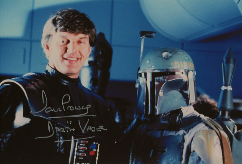 8X12 DARTH VADER PHOTO SIGNED BY DAVE PROWSE