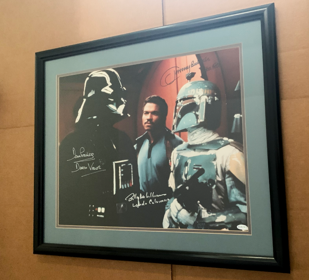 26x22 TRIPLE SIGNED AND FRAMED