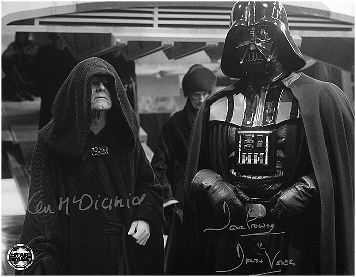11X14 PHOTO SIGNED BY DAVE PROWSE AND IAN MCDIARMID