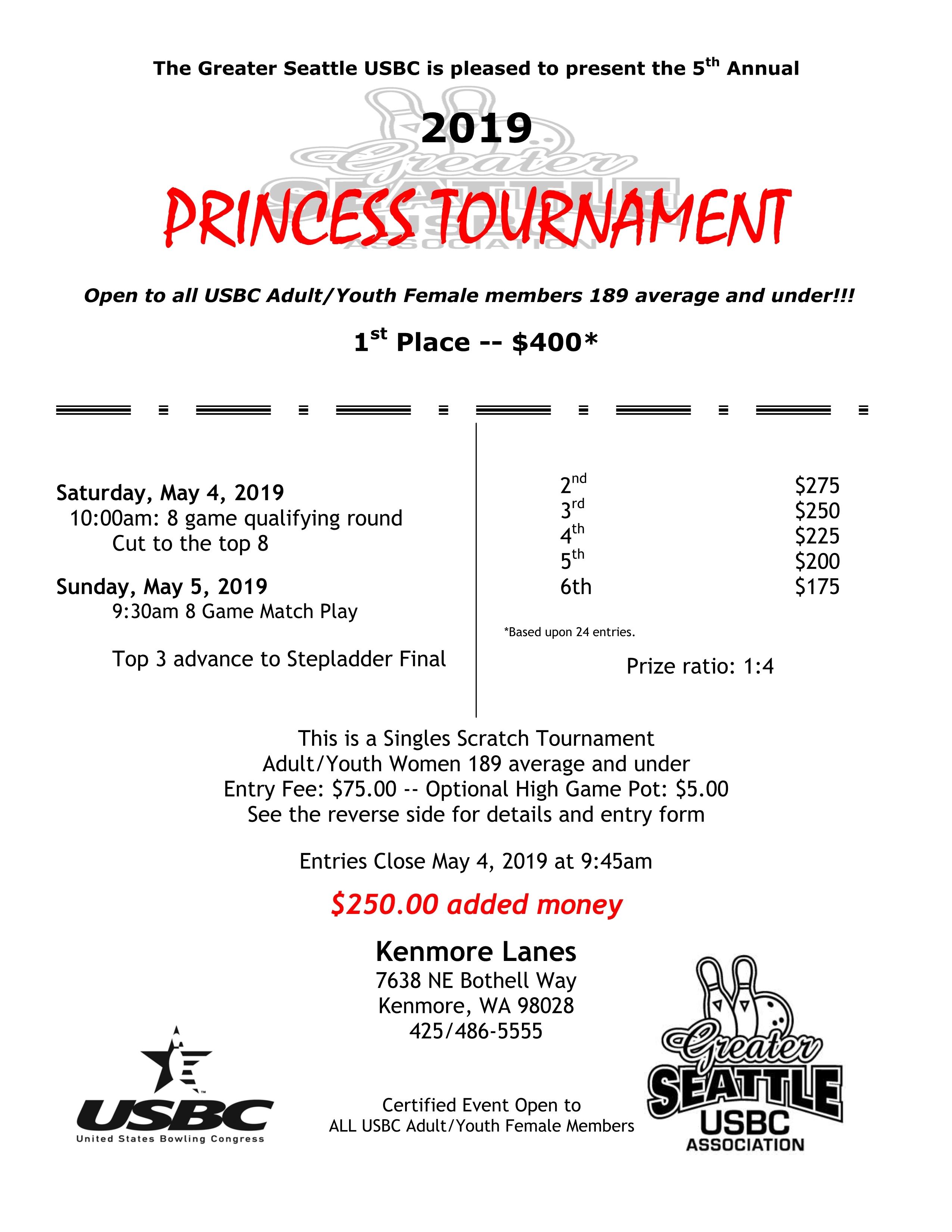 Seattle Princess Tournament PR-2019