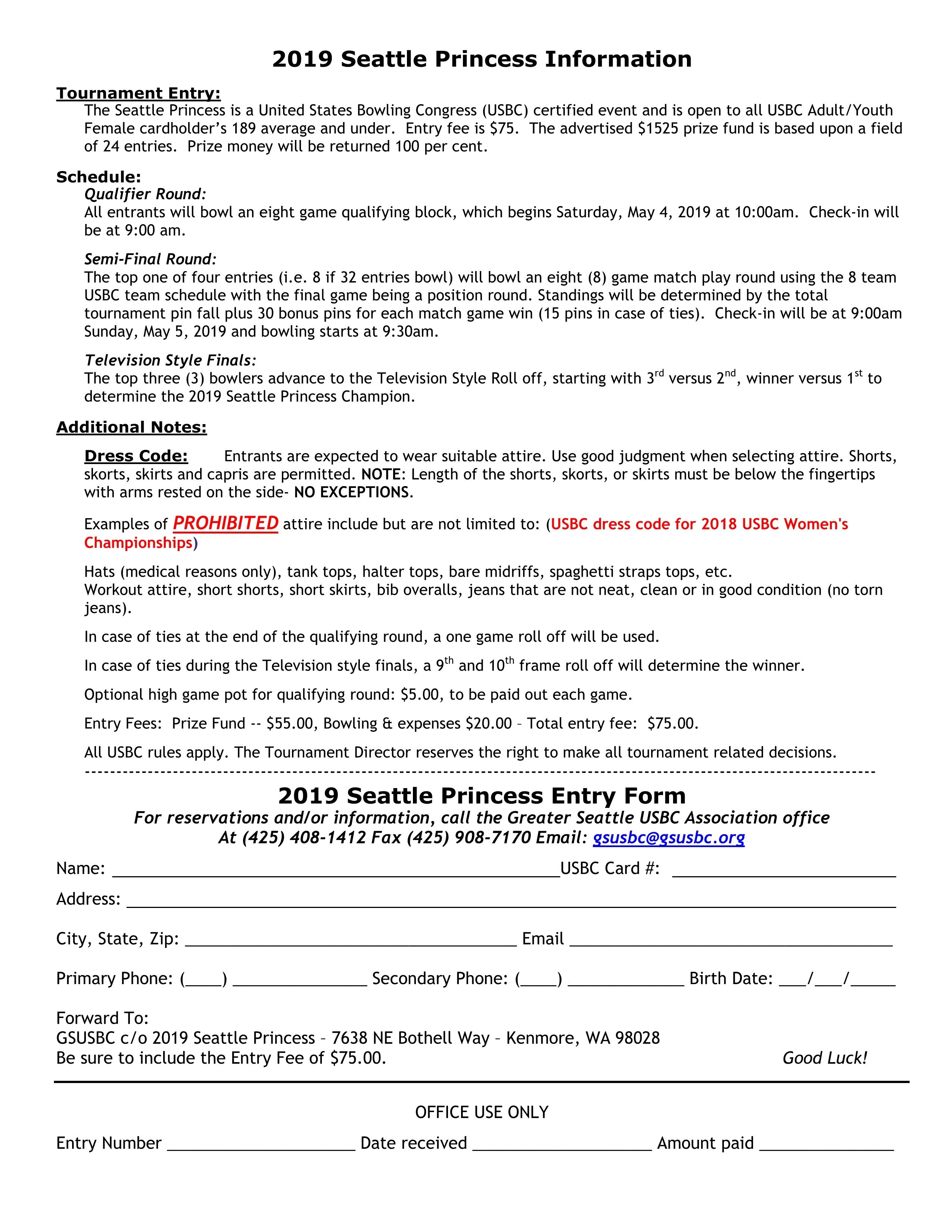 Seattle Princess Tournament
