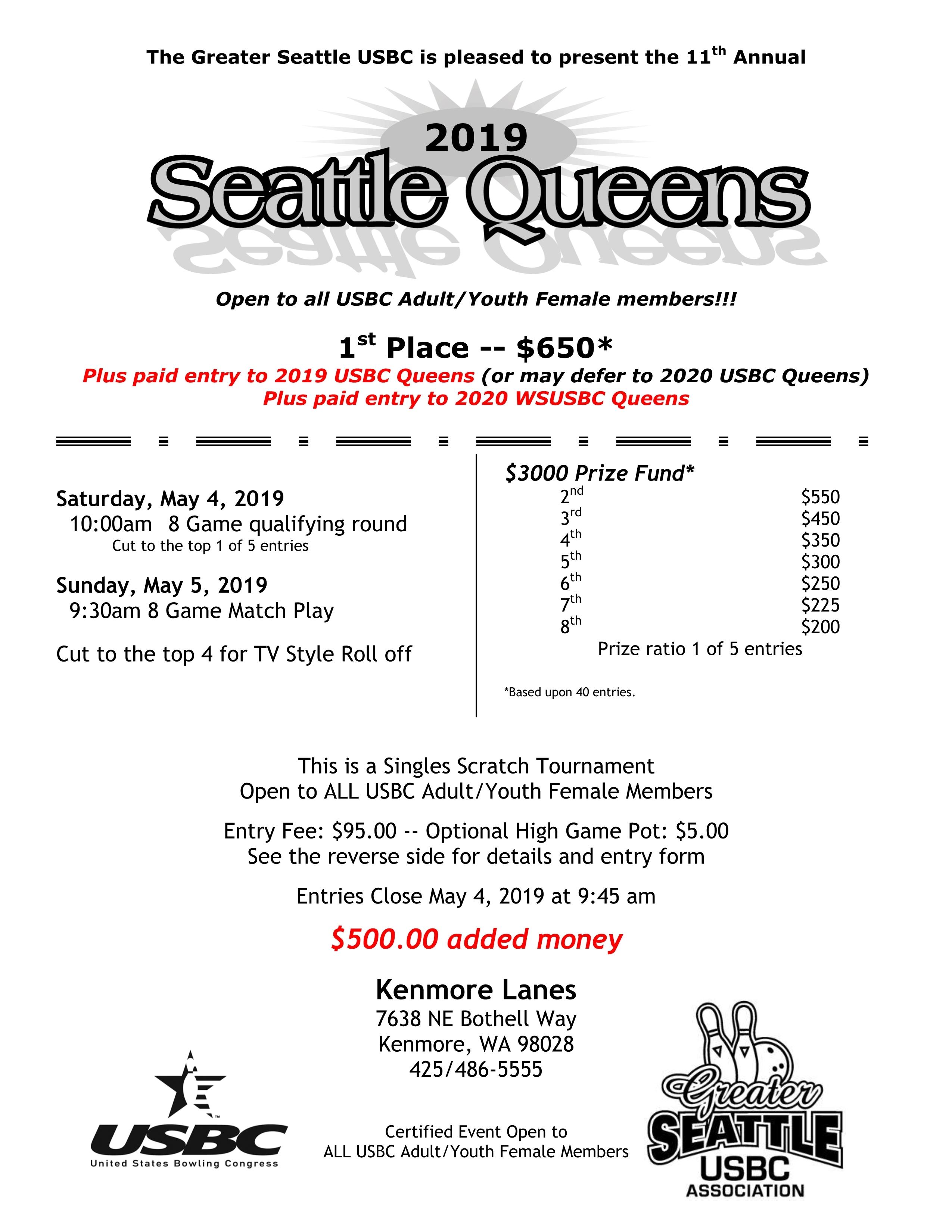 Seattle Queens Tournament QU-2019
