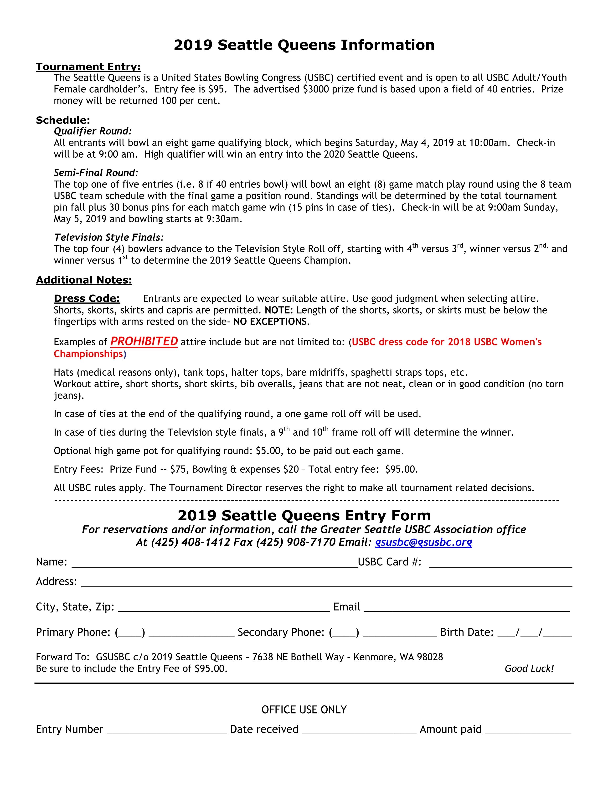 Seattle Queens Tournament