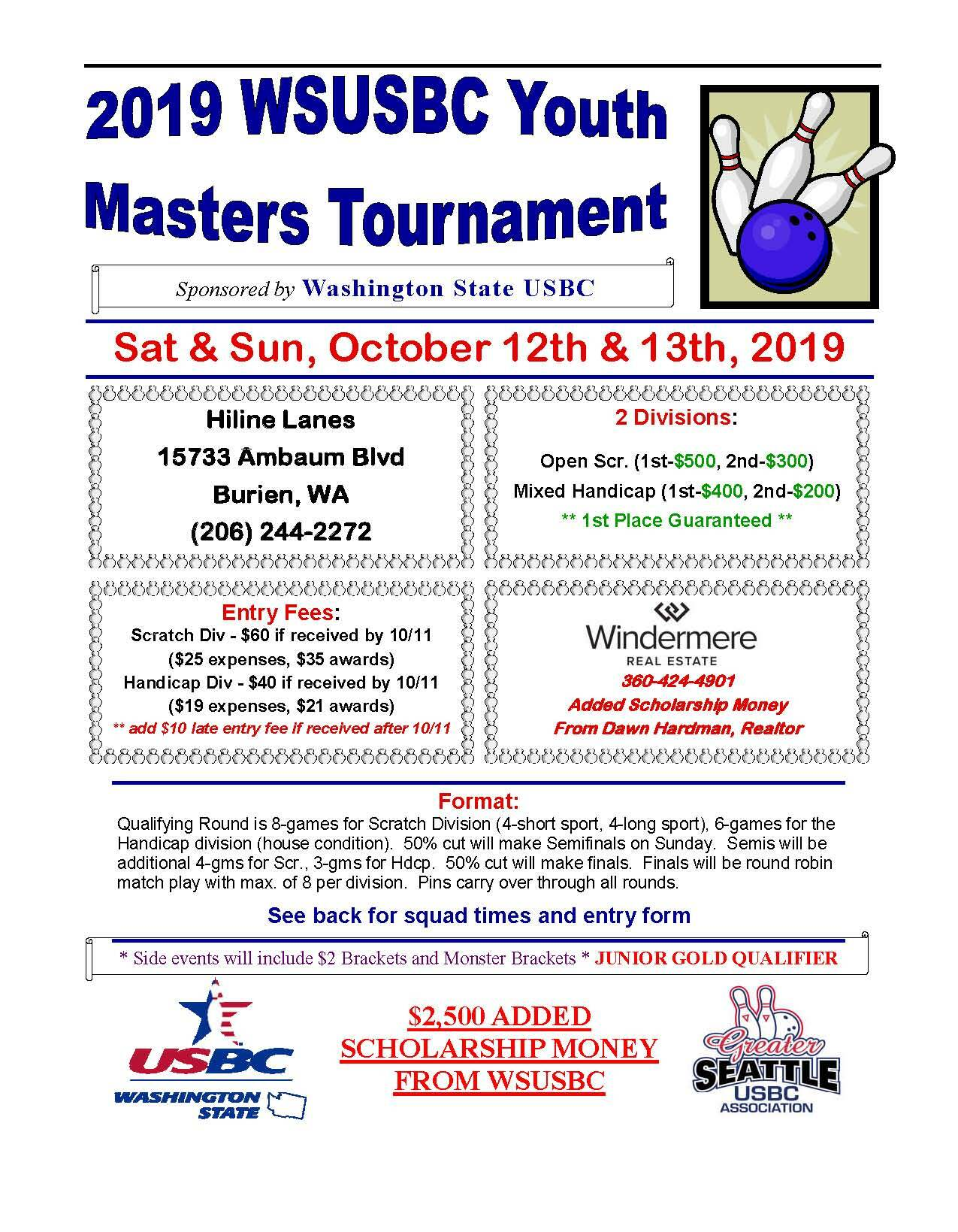 WSUSBC Youth Masters Tournament WSYM-2019