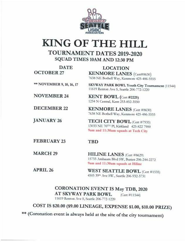 King of the Hill Tournaments