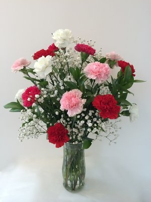 The speckled fox flowers gifts north liberty indiana florist 1 dozen carnations negle Images