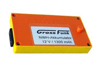 Grossfunk Battery 12V/1300mAh NiMH 100-000-134