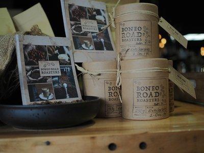 Coffee beans - 250gm Eco Gift Tube 'Boneo Road Roasters' Exhilarate House Blend
