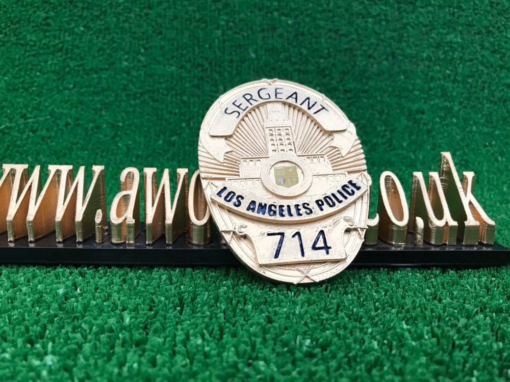 Dragnet - Sergeant LAPD Detective Badge 717 - 3d Printed, police, cop,  movie prop gift