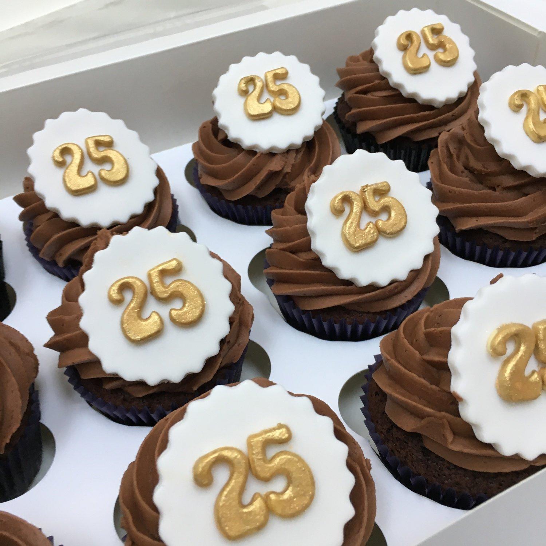 Luxury Birthday Or Anniversary Number Cupcakes
