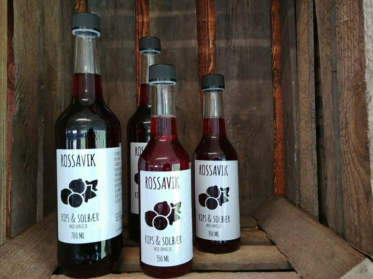 Drikkeklar Rips & Solbærsaft fra Rossavik 700 ml