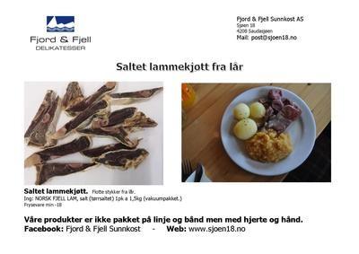 Saltet LAMMEKJØTT