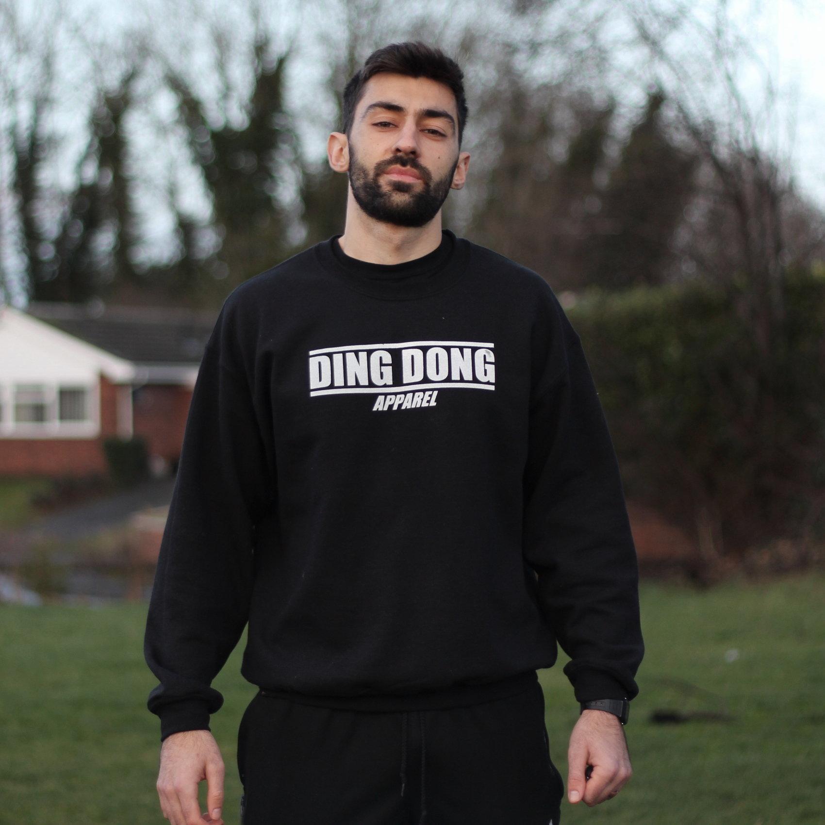Large Print Sweatshirt - Black