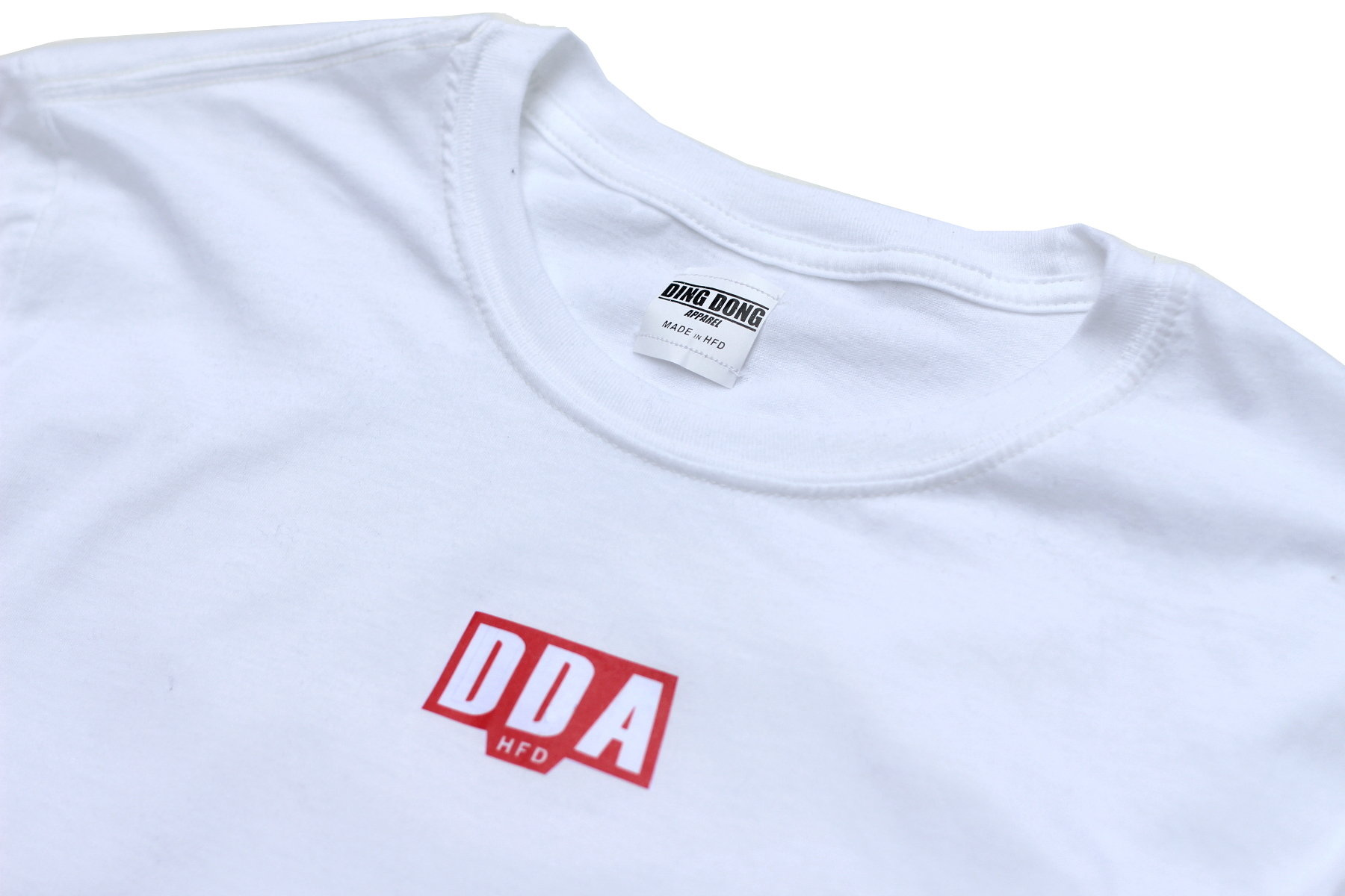 DDA Hfd LS Tee - White/Red