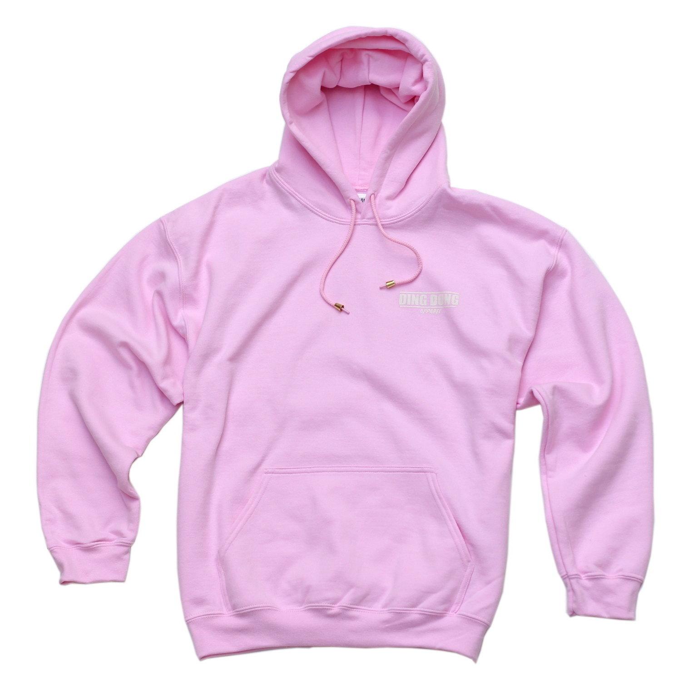 Small Print Hoodie - Pink 00006