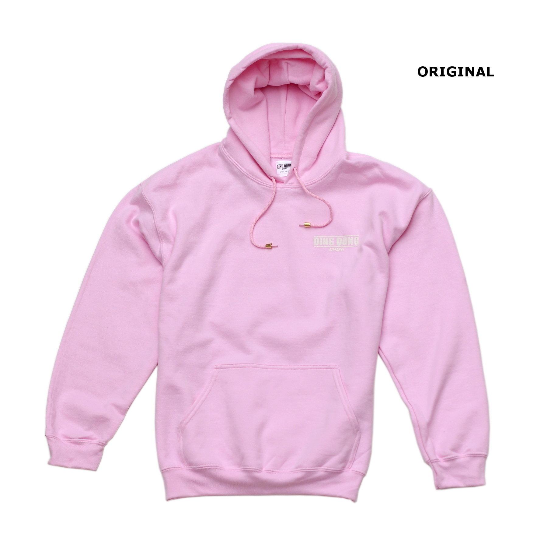 Small Print Hoodie - Pink