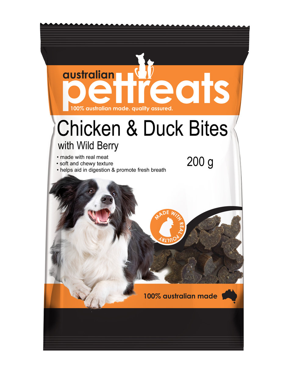 Chicken and Duck Bites with Wild Berry