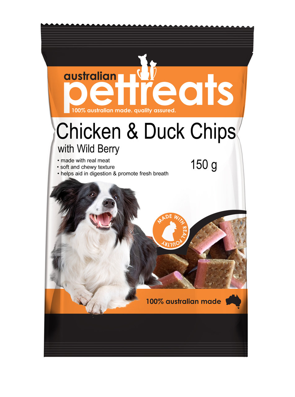 Chicken and Duck Chips with Wild Berry