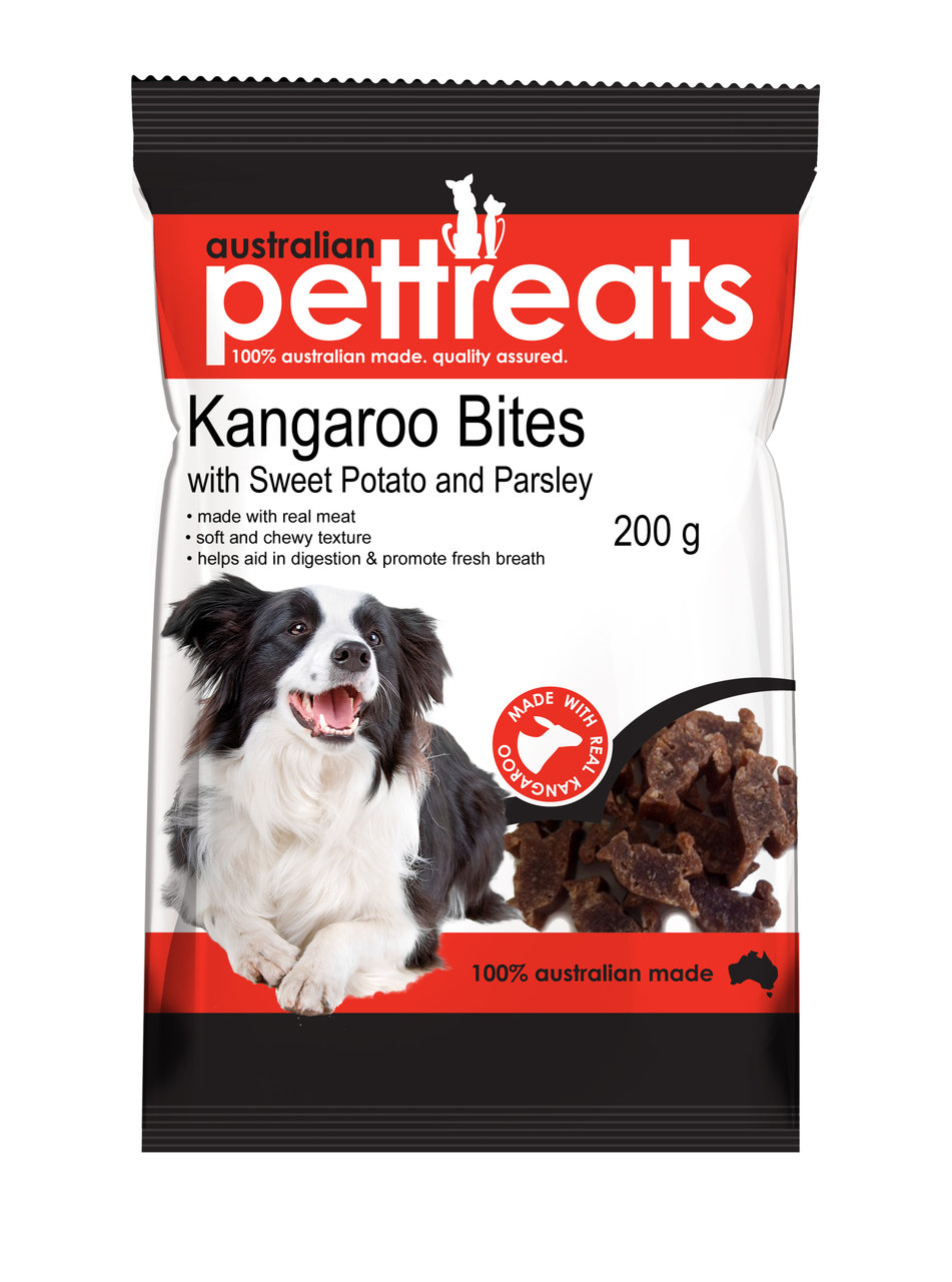 Kangaroo Bites with Sweet Potato and Parsley