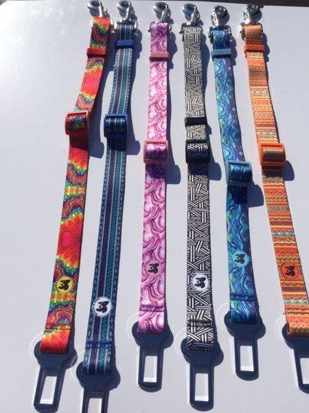 Designer Dog Seat Belt Restraints