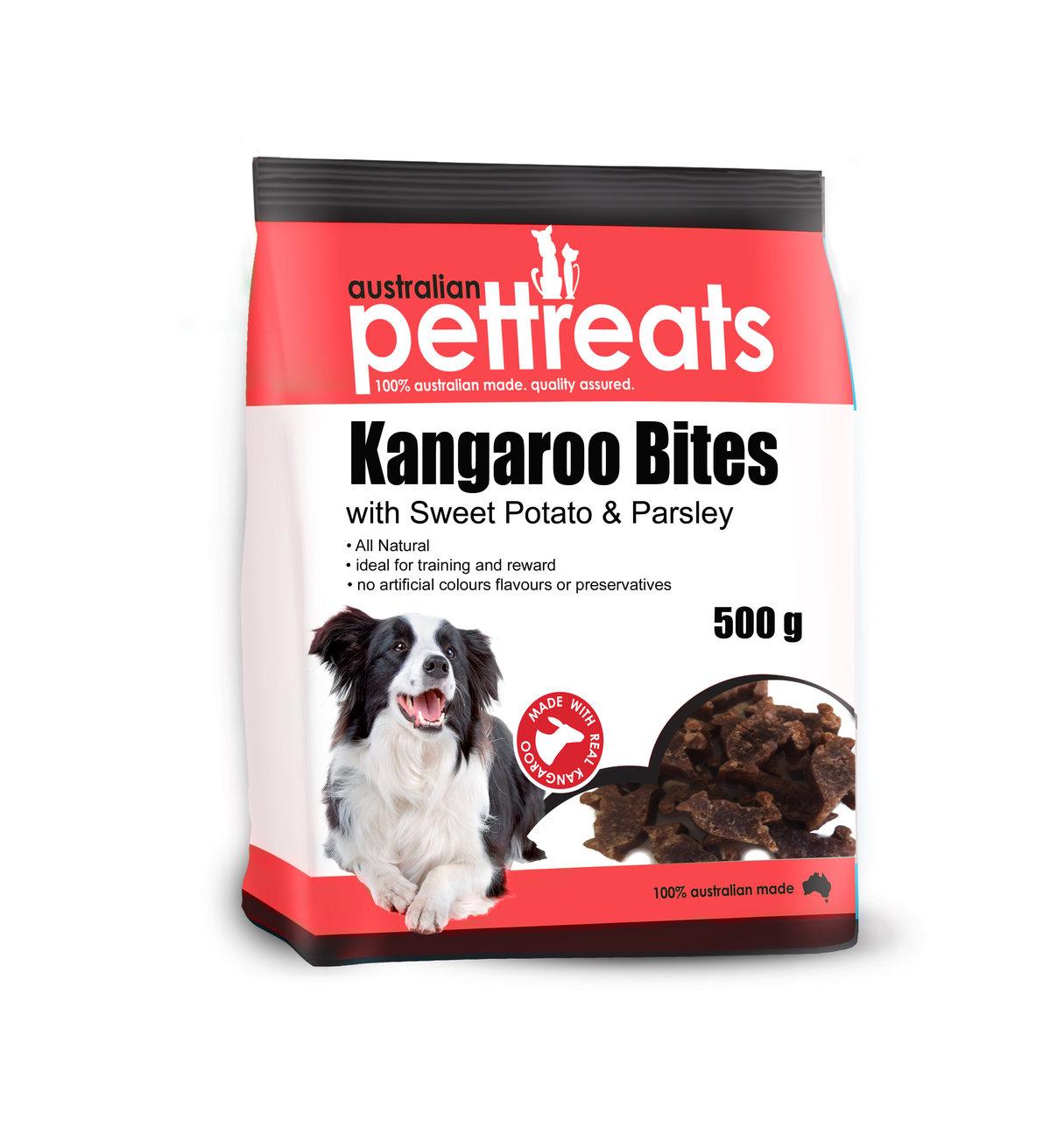 Kangaroo Bites / Straps with Sweet Potato and Parsley 00062