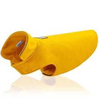 Dogie Winter Coat Paw Paw Yellow