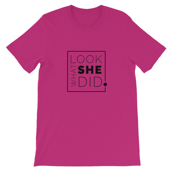 Look What SHE Did Logo Tee 00006