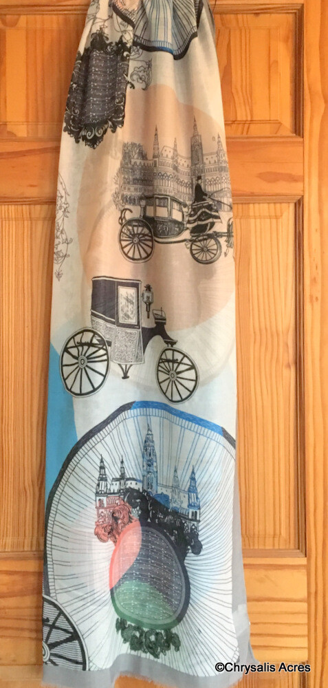Scarf: European Cities and Carriages