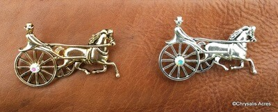 Single Horse and Cart Pin