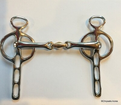 Liverpool Bit: Oval (Bean) Link Snaffle - 3 Slot