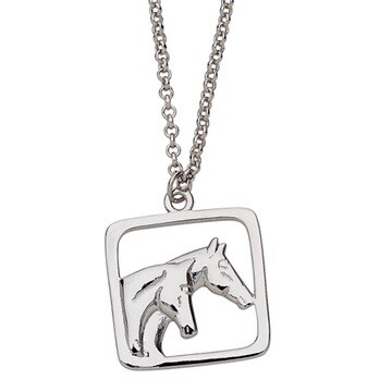 Pair Of Horseheads Necklace