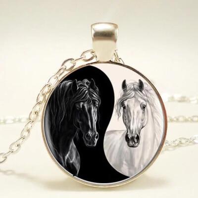 Horse Yin Yang Pendant